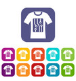 electronic t-shirt icons set vector image vector image