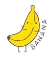 cute cartoon banana character vector image