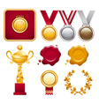 Collection of Awards vector image vector image