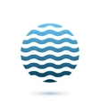 Abstract wavy round conceptual icon sphere vector image