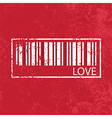 love vintage abstract grunge red background vector image