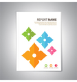 Report Cover thai3 vector image
