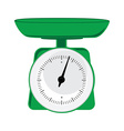 Green weight scale vector image