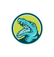 Angry Alligator Head Snout Circle Retro vector image