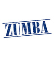 zumba blue grunge vintage stamp isolated on white vector image