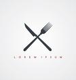 restaurant theme icon sign logotype vector image