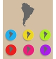 Aouth America Map - icon isolated vector image