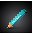 colorful detailed pencil icon vector image