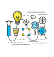 creative process with icons design vector image