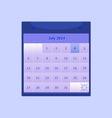 Design schedule monthly july 2014 calendar vector image