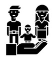 family life protection - insurance icon vector image