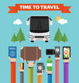 modern concept design time to travel flat vector image