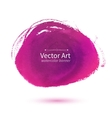 Pink hand drawn stain vector image
