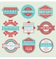 Set badges for Christmas cards vector image