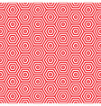 Retro red seventies pattern vector image vector image