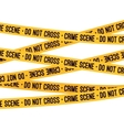 Crime scene yellow tape vector image