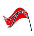 stylized confederation flag on white background vector image