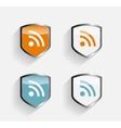 RSS Shield Set vector image