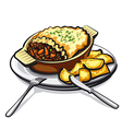 sheppards pie vector image