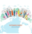 Family Flat Background vector image