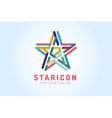 Star logo icon Leader boss symbol vector image