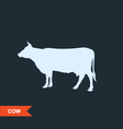Cow silhouette - cattle symbol vector image