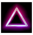 Triangle Border with Light Effects vector image