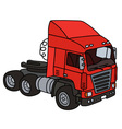 Red towing truck vector image