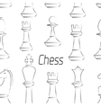 Chess board Game Pattern vector image