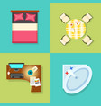big furniture items set on vector image