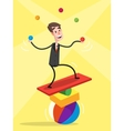 Businessman Balancing vector image