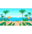 Cartoon nature seamless landscape with sea and vector image
