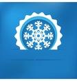Christmas snowflake applique EPS8 vector image