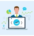 Expert of search engine optimization and business vector image