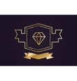 Monogram old diamond logo badge vector image