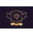 Monogram old diamond logo badge vector image