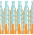 Pattern lemonade bottle vector image