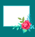 postcard decorated with flower vector image