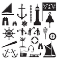 Sailboat symbol set vector image
