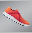 shoes design running shoes orange sneakers sport vector image