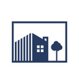 simple residential logo vector image