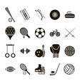 Sport icon signs and symbols black set vector image