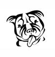 staffordshire bull terrier vector image