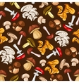 Forest mushrooms seamless pattern wallpaper vector image