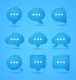 Abstract speech clouds Ready for a text vector image vector image