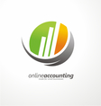 Logo design with chart bars vector image vector image