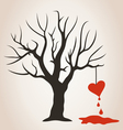 Heart on a tree vector image