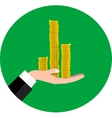 Money on hand vector image vector image