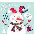 Snowmen christmas design vector image