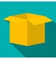 Open empty cardboard flat icon vector image vector image
